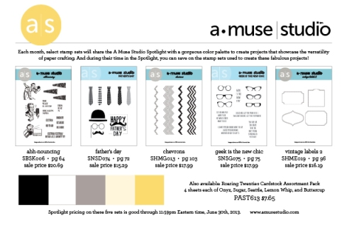 A Muse studio rubber stamps