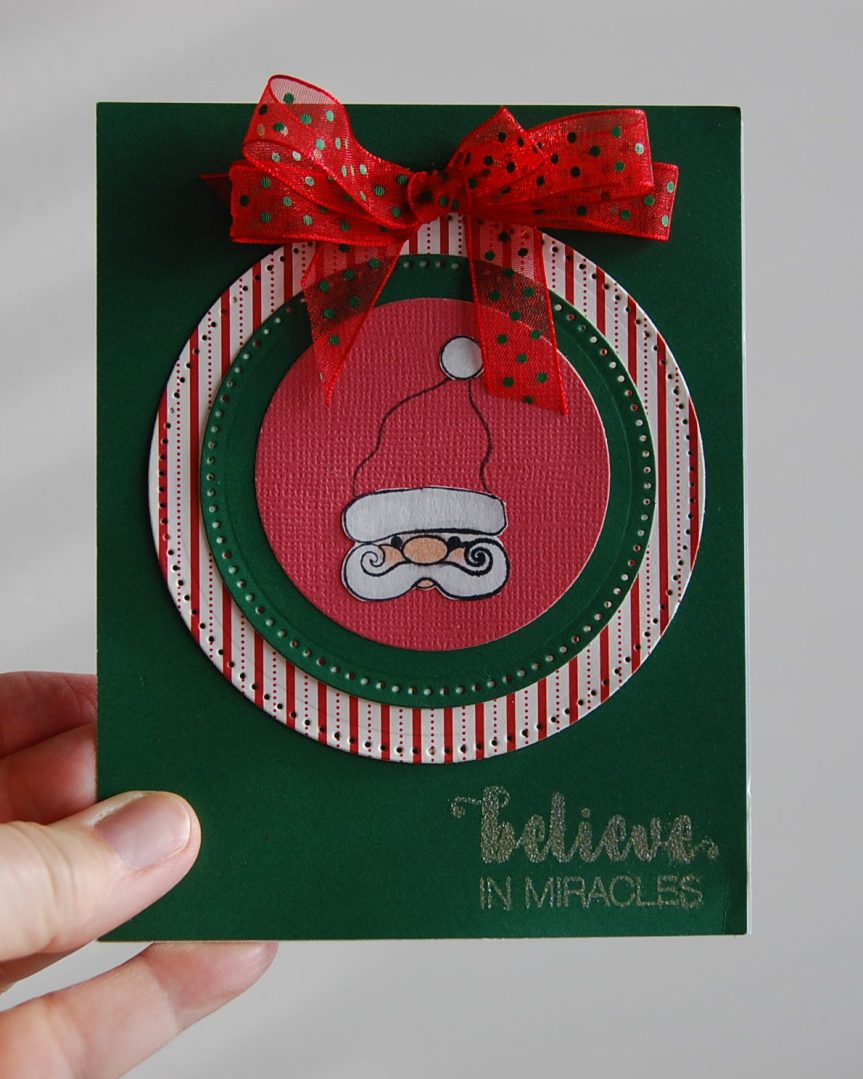 CTMH's Little Saint Nick and Stronger Together   CAS card   handmade Christmas card