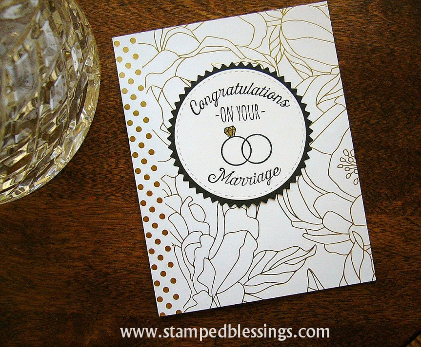 CTMH Many Congratulations and Live Beautifully paper pack | CAS card | handmade DIY wedding card