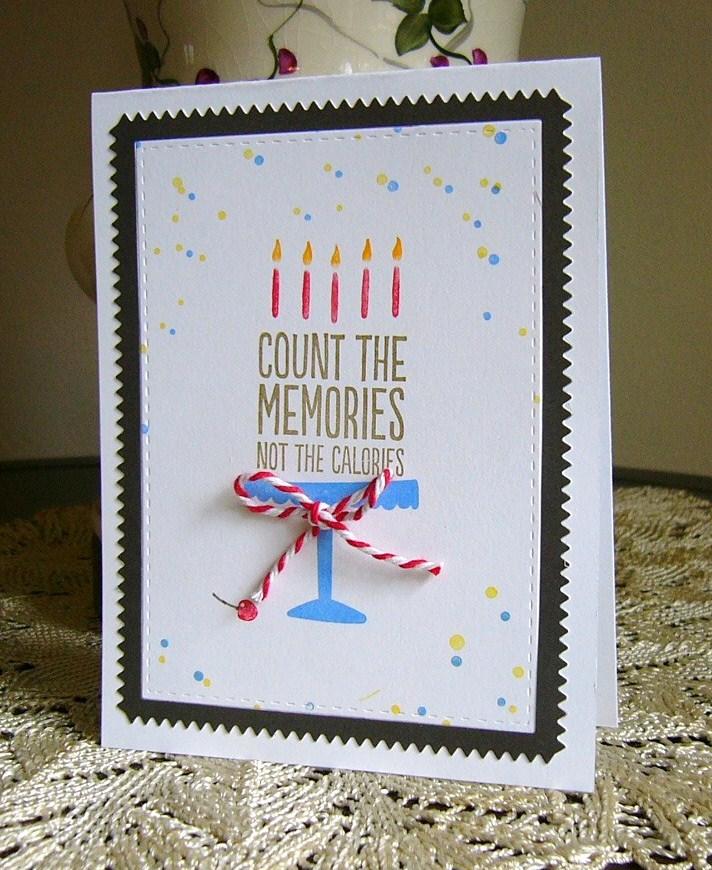 amuse studio, handmade birthday card