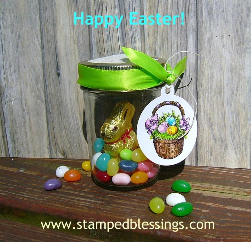 CTMH Easter Basket | handmade Easter jar treat