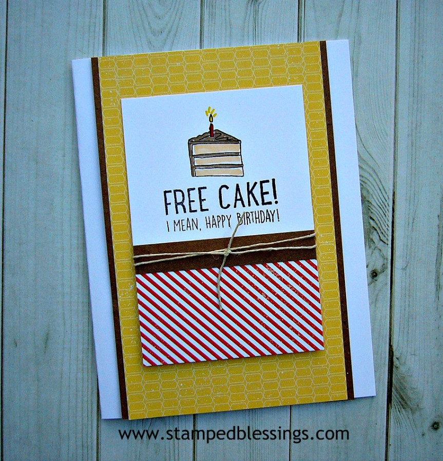 CTMH Free Cake! stamp set and Stargazer paper pack   CAS birthday card   masculine birthday cards for men