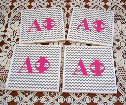 amuse studio, Alpha Phi, DIY coasters