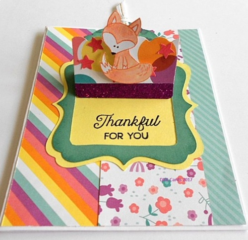 Hello Foxy - CTMH June Stamp of the Month, Prickly Pear paper, Close To My Heart, rubber stamped cards, cardmaking ideas