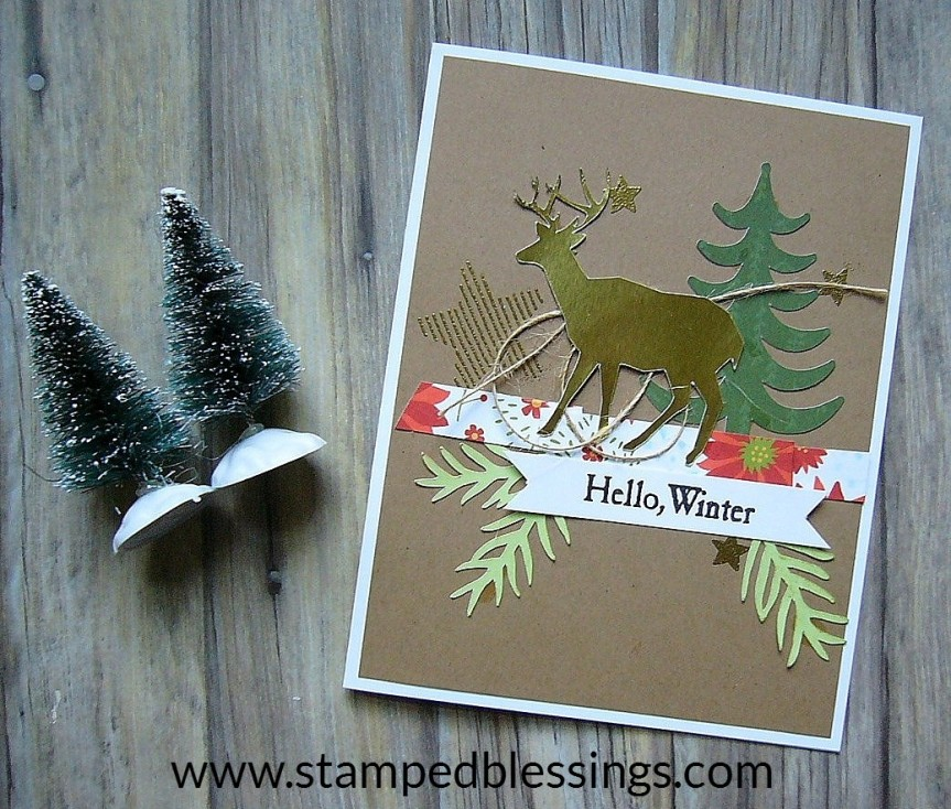 CTMH Joyful Tidings Workshop Your Way and CTMH/Cricut You Are Here and Flower Market bundle | Christmas holiday collage card