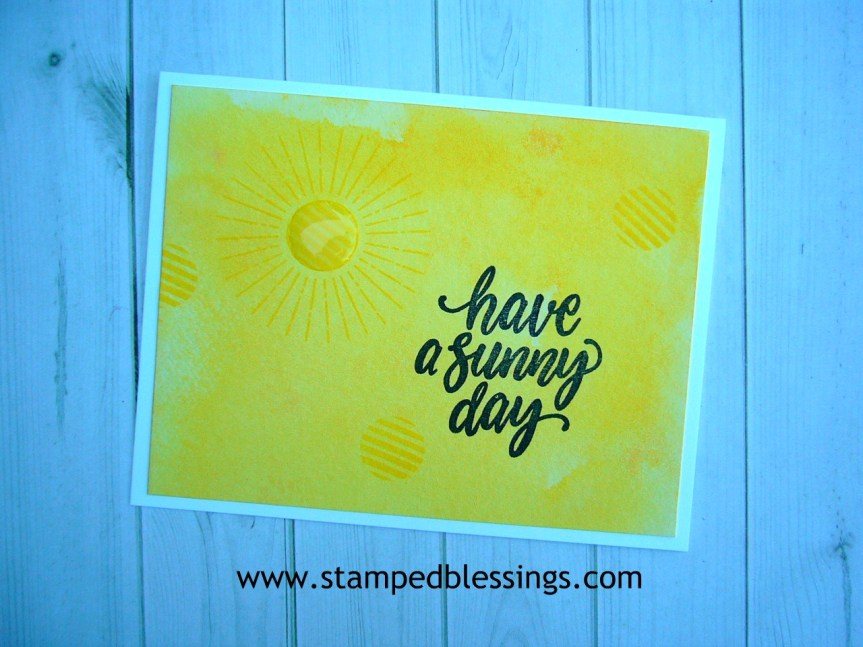 CTMH Central Park scrapbooking and Sunny Thoughts stamp of the month