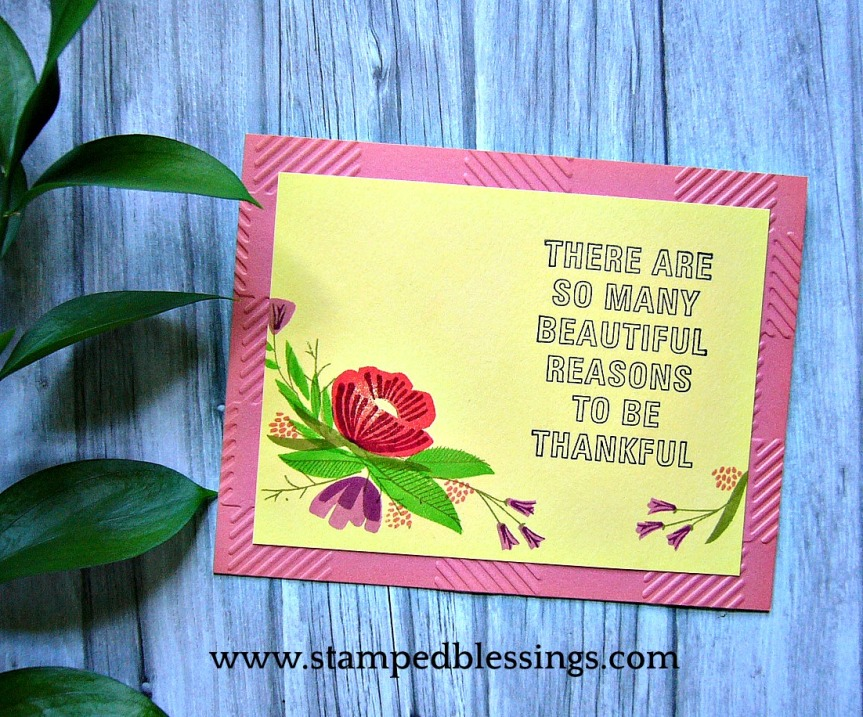 CTMH From the Heart, Feel So Blessed and Buffalo Plaid embossing folder   CAS card idea   #ctmhfromtheheart #CTMHstampofthemonth