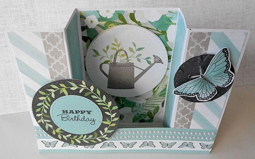 CTMH Chelsea Gardens complements   fun fold card