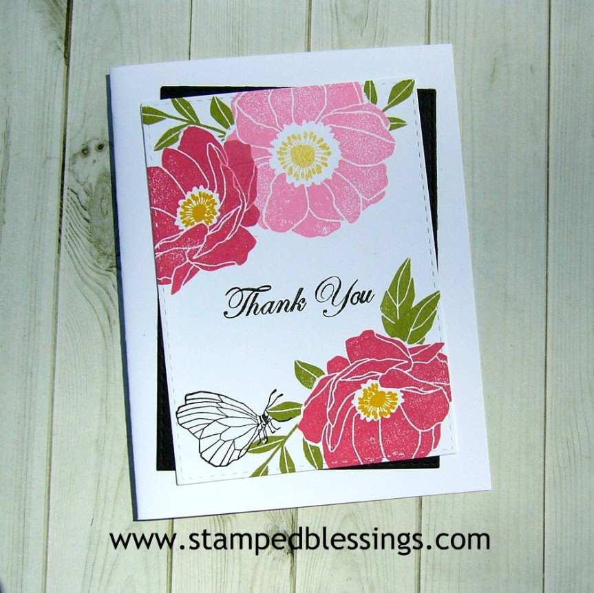 CTMH Chelsea Gardens - scrapbooking and cardmaking stamp sets | CAS card design