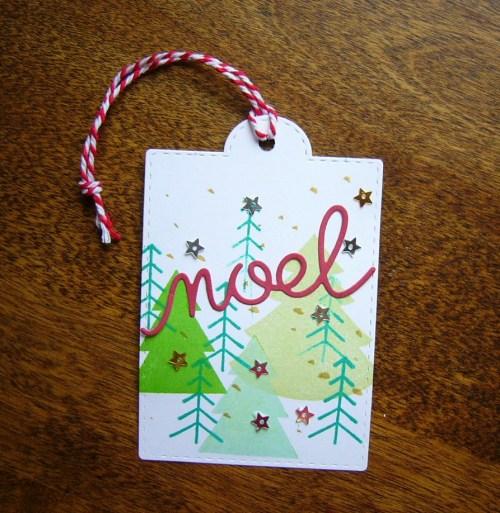 CTMH Joyful Tidings Workshop Your Way kit   handmade Christmas tag