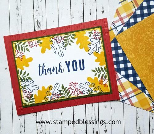 CTMH Grateful Heart thank you card