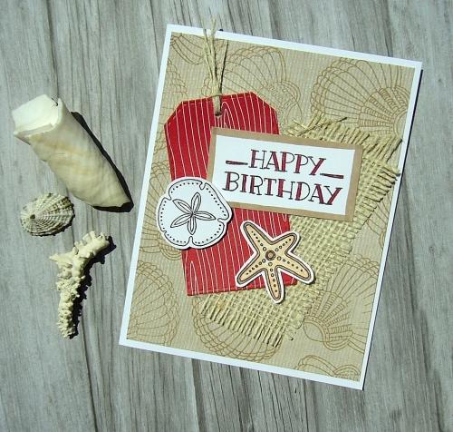 Swirly Seashells from CTMH - retiring Jul 31, Prickly Pear cardmaking stamp set from CTMH, handmade birthday card