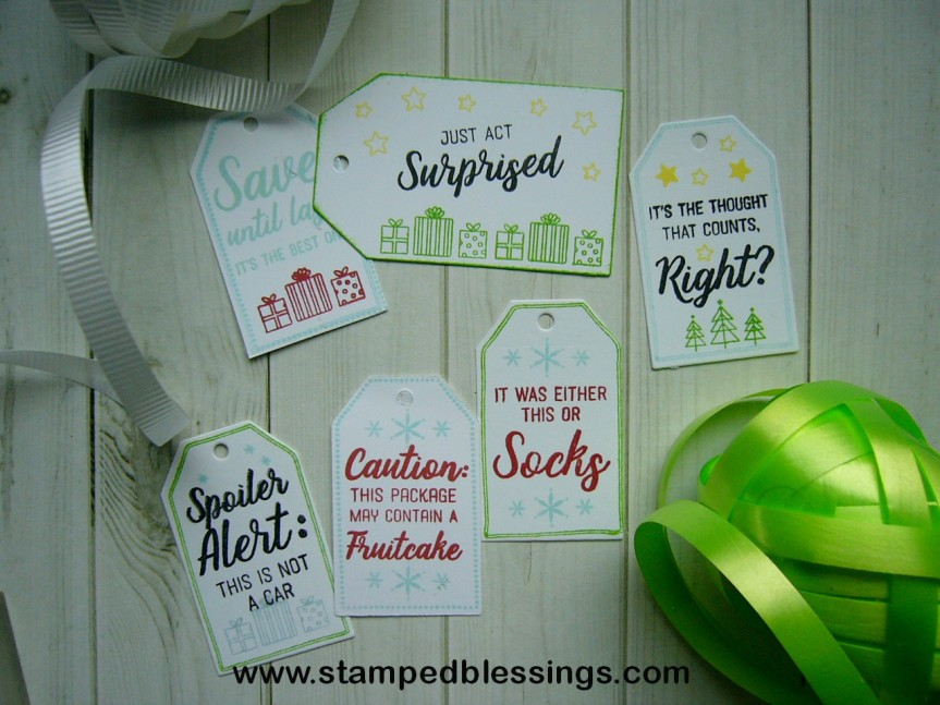 CTMH The Thought that Counts | sassy little Christmas tags | DIY tags