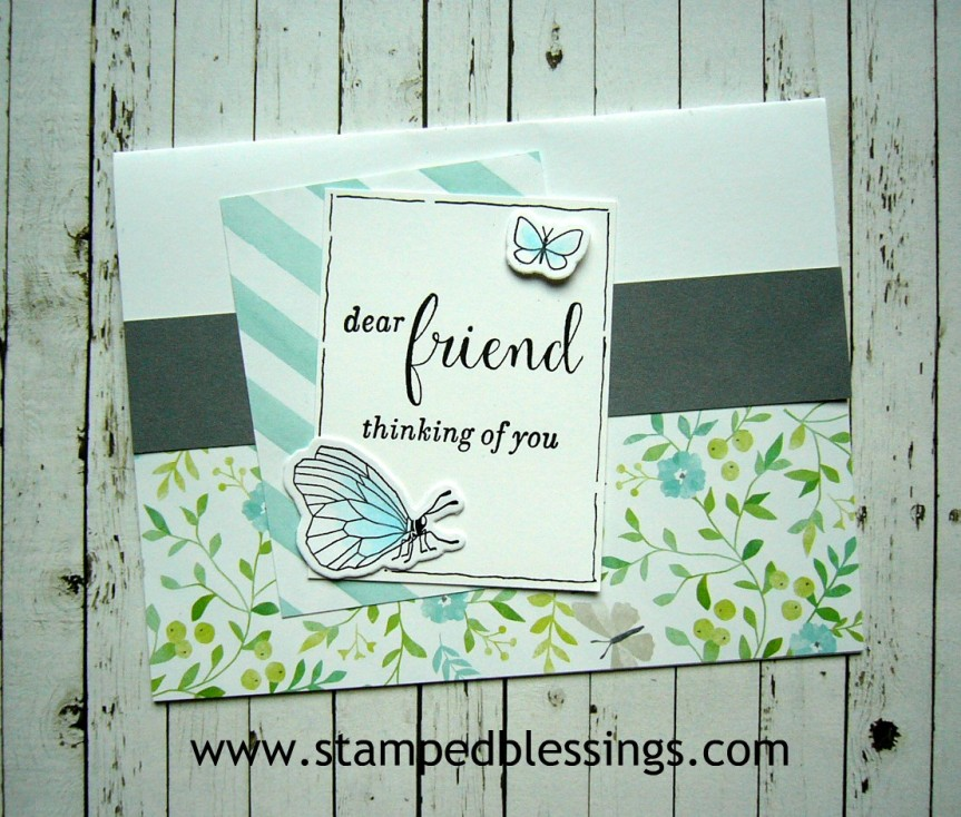 CTMH Chelsea Gardens paper pack and stamp set