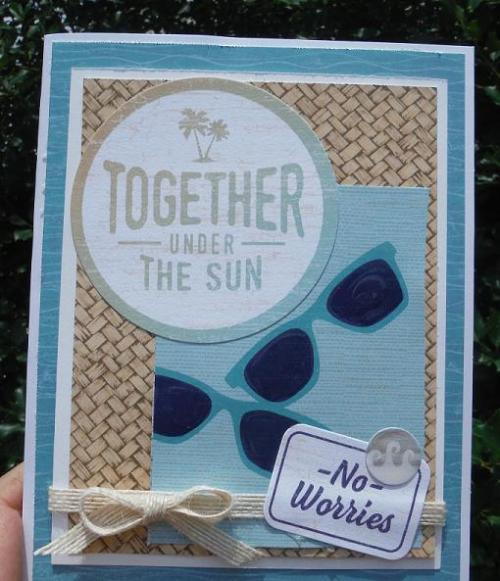 No Worries scrapbooking kit is also perfect for quick and easy cardmaking!  | CTMH