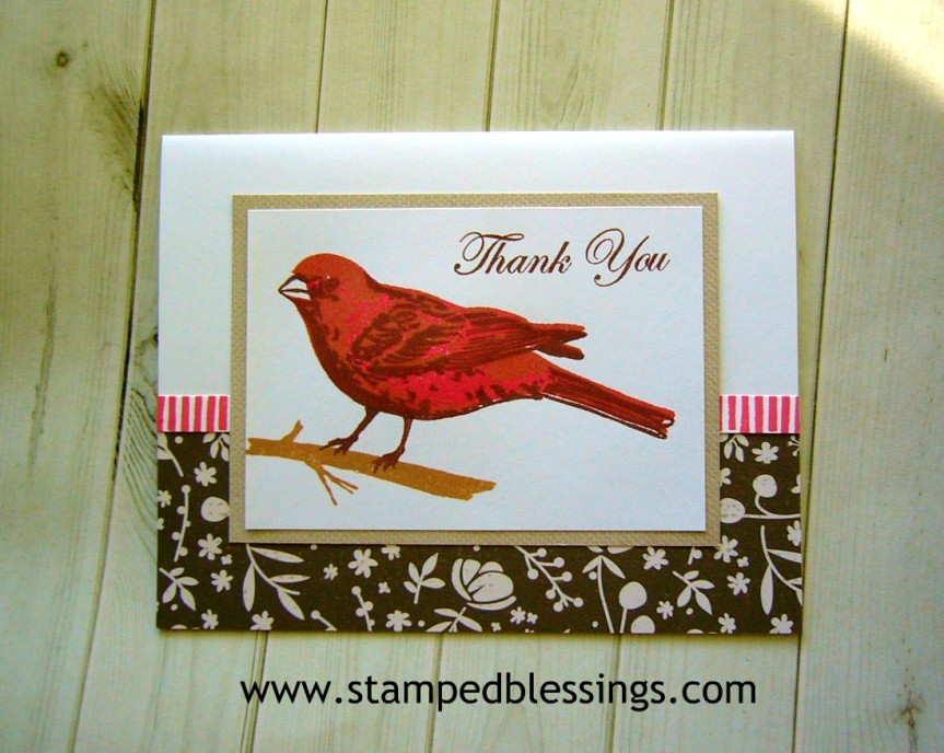 CTMH Thoughtful Bird and Central Park scrapbooking stamp set