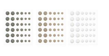 CTMH grey enamel gems