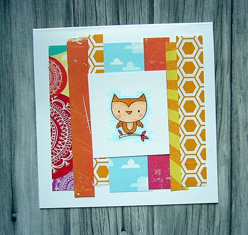 Punny Pals for CTMH's Operation Smile, CAS card, great card layout for using up paper scraps