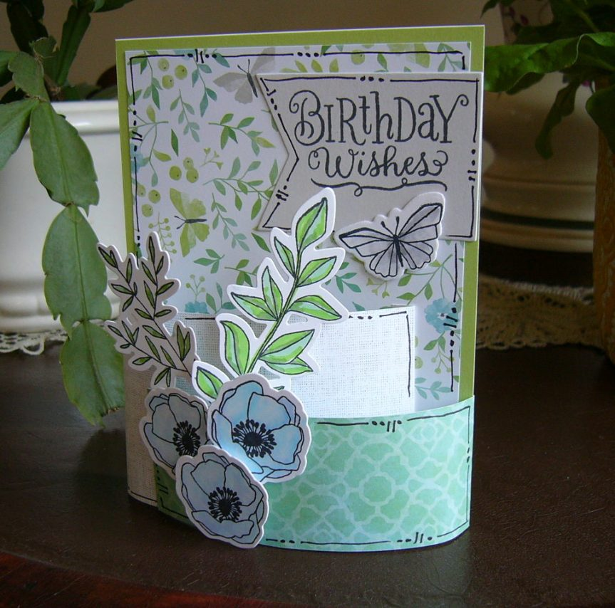 CTMH Chelsea Gardens (paper and stamp set) | Bendi card | Bendy card