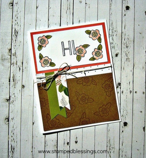 Hello Foxy, Kraft cardstock, CTMH June Stamp of the Month, Chris Franco Close To My Heart consultant, rubber stamped cards, cardmaking ideas