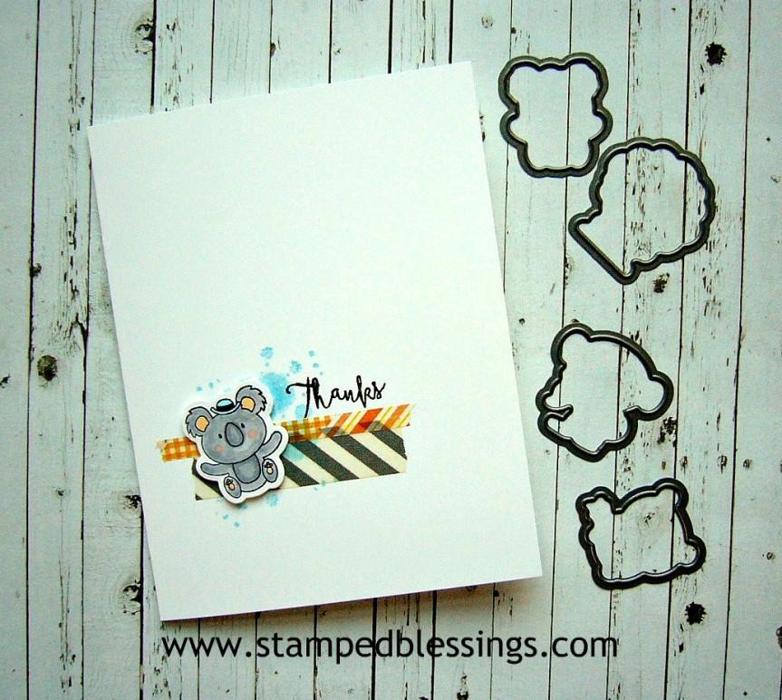 CTMH Punny Pals Operation Smile stamp set | CAS card design