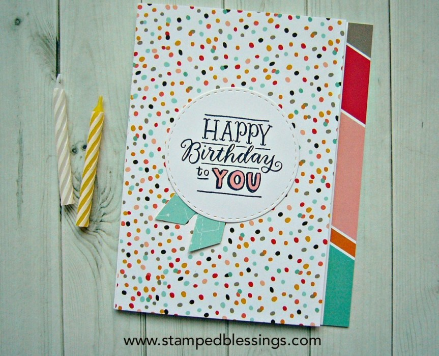 CTMH Birthday Sparkles | handmade CAS birthday card
