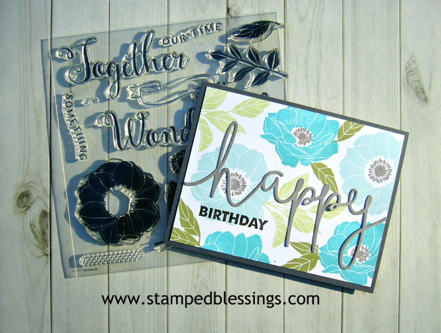 CTMH Chelsea Gardens scrapbooking stamp set | CAS card design | *thin cut dies on sale during March 2018*