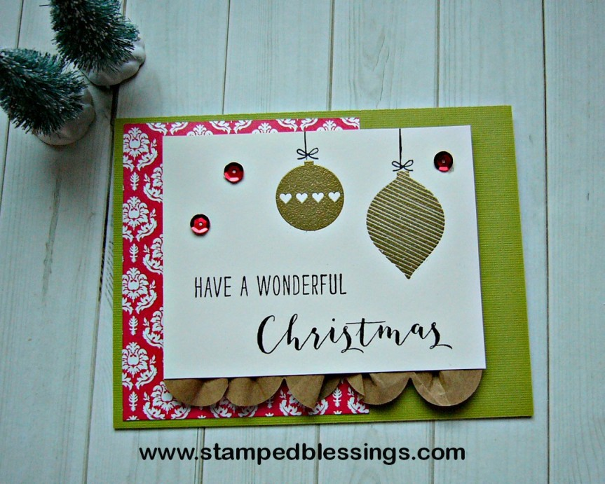 CTMH Silver and Gold cardmaking stamp set   gold embossed   handmade Christmas card