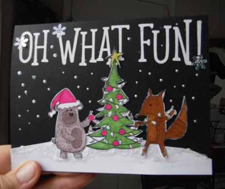 CTMH Beary Christmas scrapbooking stamp set   handmade Christmas card