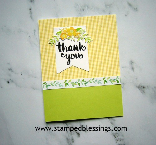 CTMH Sunny Thoughts Stamp of the Month   CAS card design