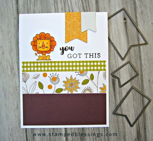 CTMH Punny Pals (Operation Smile stamp set) and Stronger Together (all proceeds go to the Red Cross) | Falling for You paper pack | Fall card
