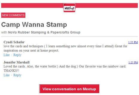 meetup comments