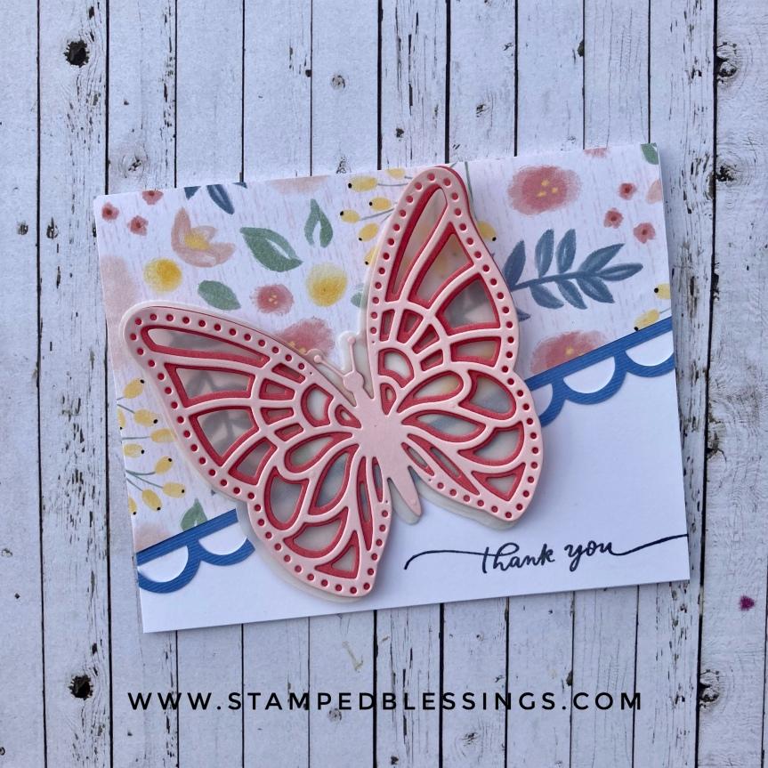 CTMH Layered Butterflies thankyou